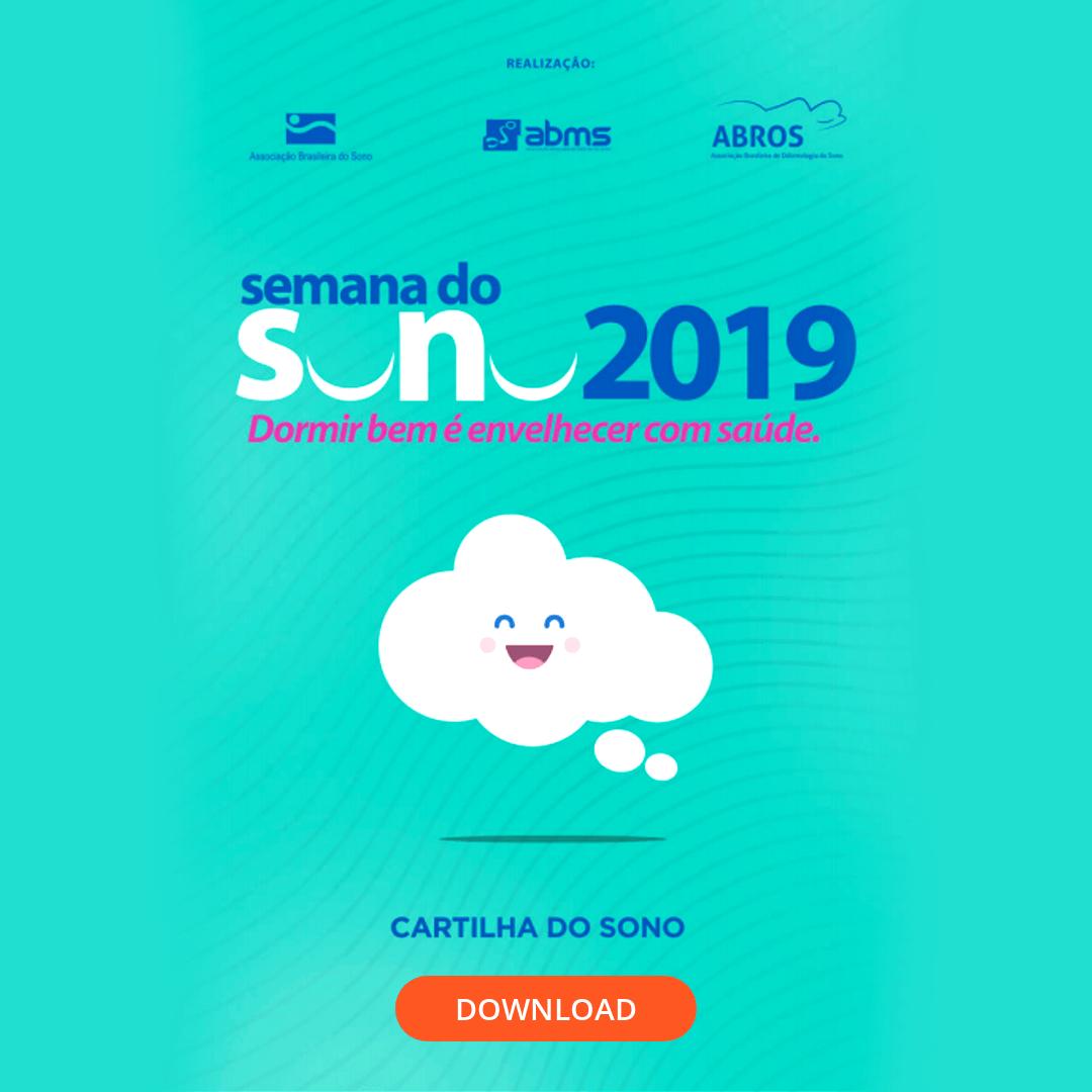 Faça aqui o download da Cartilha do Sono - Semana do Sono 2019